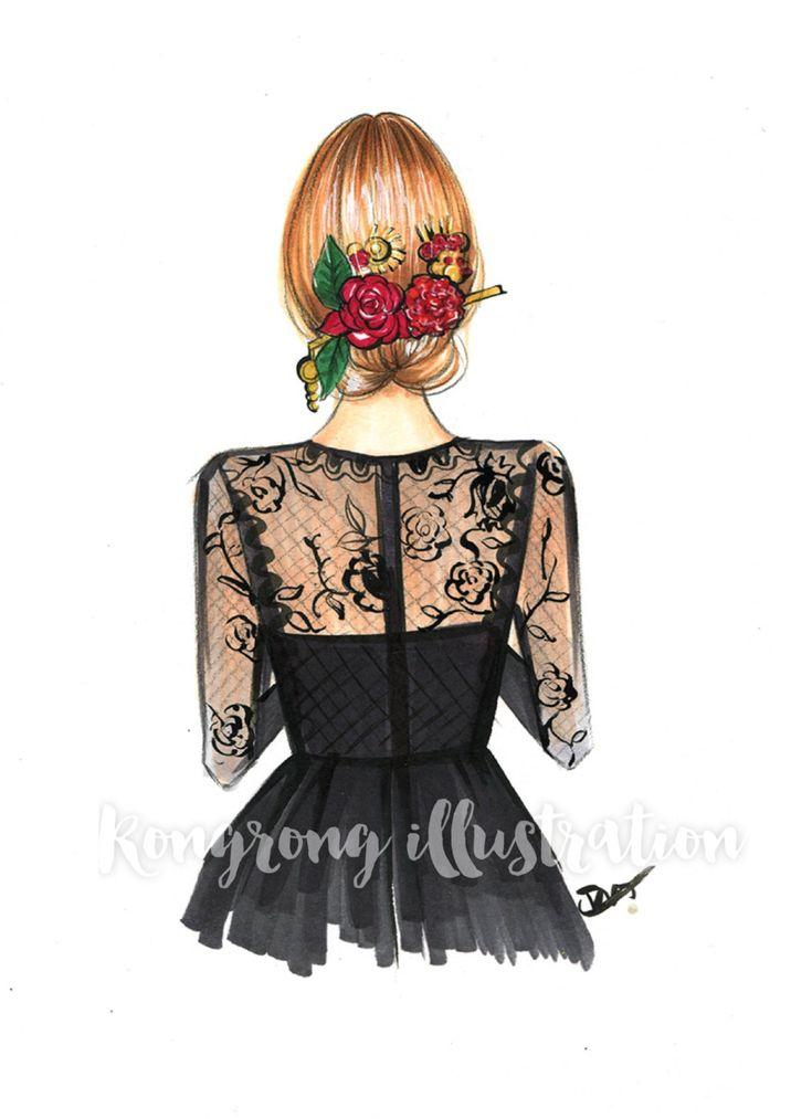 Dolce & Gabbana Fashion print Fashion by RongrongIllustration