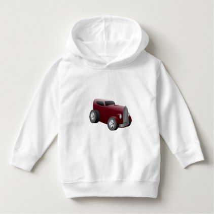 cherry red old hot rod muscle car hoodie - girly gift gifts ideas cyo diy special unique