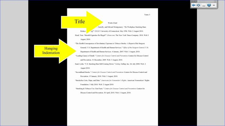 Mla tutorial 3 works cited page formatting research