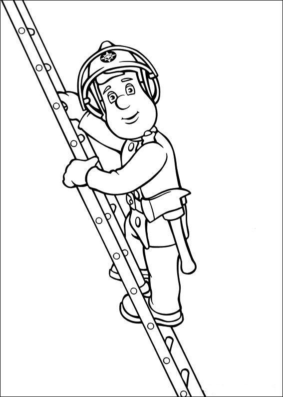 Brandweerman Sam Kleurplaten voor kinderen. Kleurplaat en afdrukken tekenen nº 6