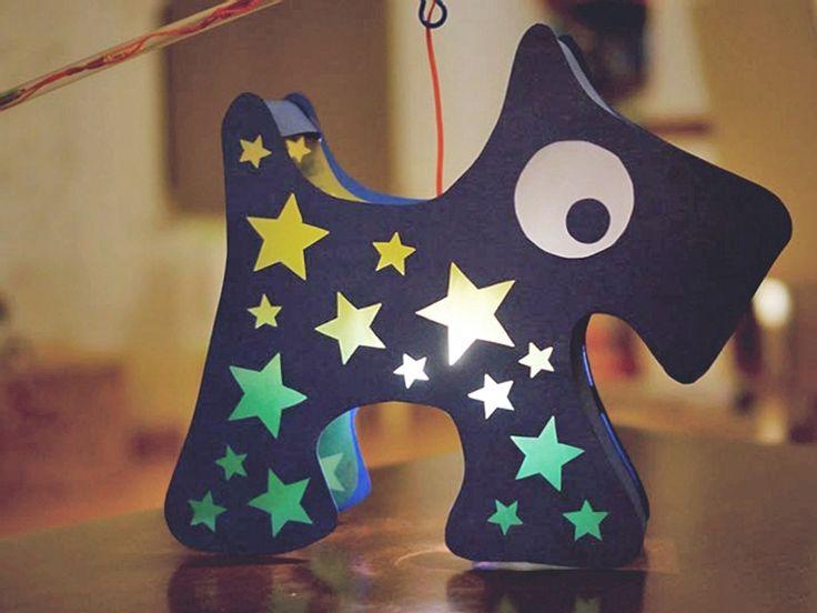 DIY tutorial: Make A Dog Lantern For Children  via DaWanda.com