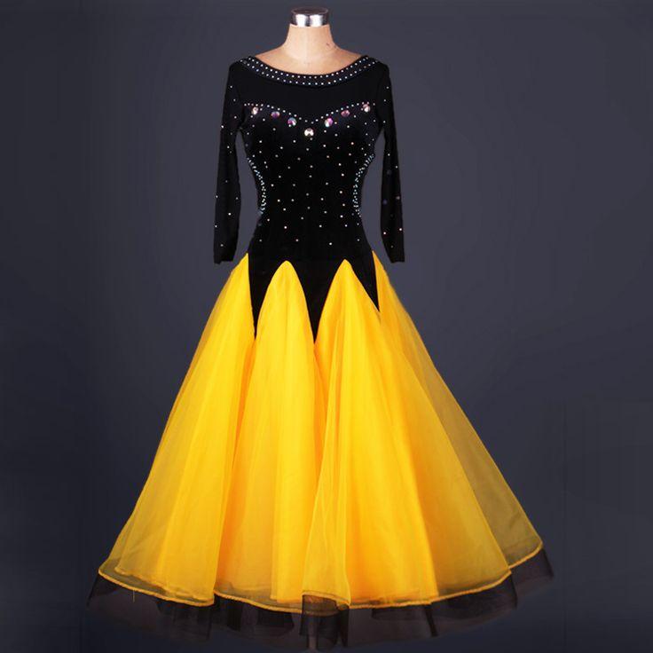 High-grade diamond ballroom dance competition and new dance ballroom dancing dress skirt pendulum dress