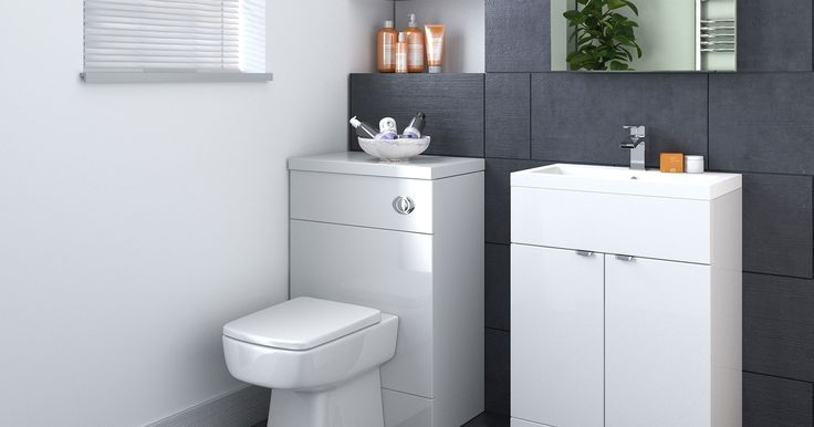 Medley Gloss White/Oyster. The popular high gloss white finish with the simplicity of this chrome curved fixed handle provides the perfect balance for the modern bathroom, generating storage and function with the compact basin and WC cabinet.