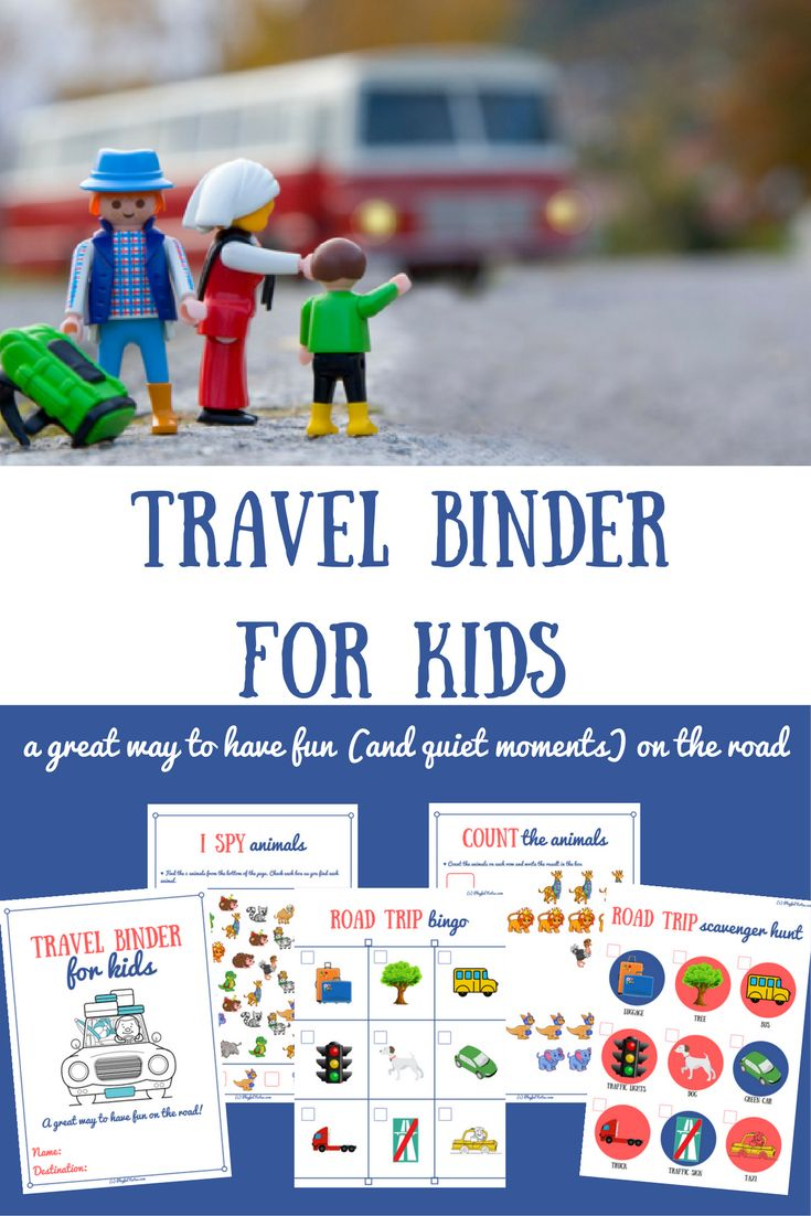Travel activities for toddlers and preschoolers: A printable travel binder for kids, great for road trips and family travel| Road trip activities for kids