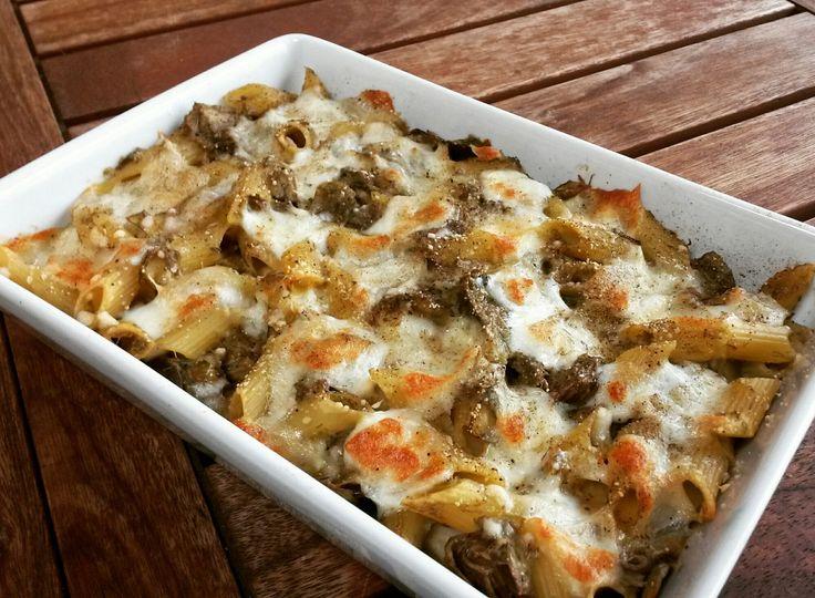 Pasta al forno con carciofi e scamorza – Basilico secco