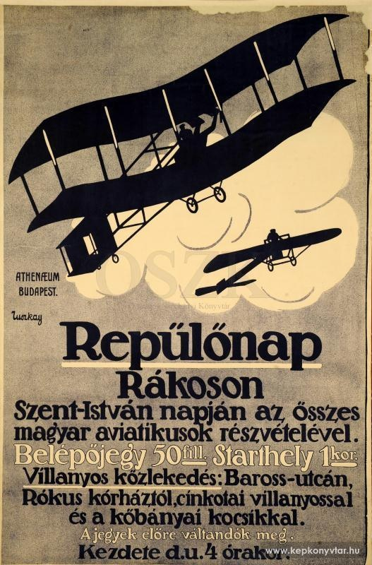 Repülőnap Rákoson Szent István napján az összes magyar aviatikusok részvételével ...