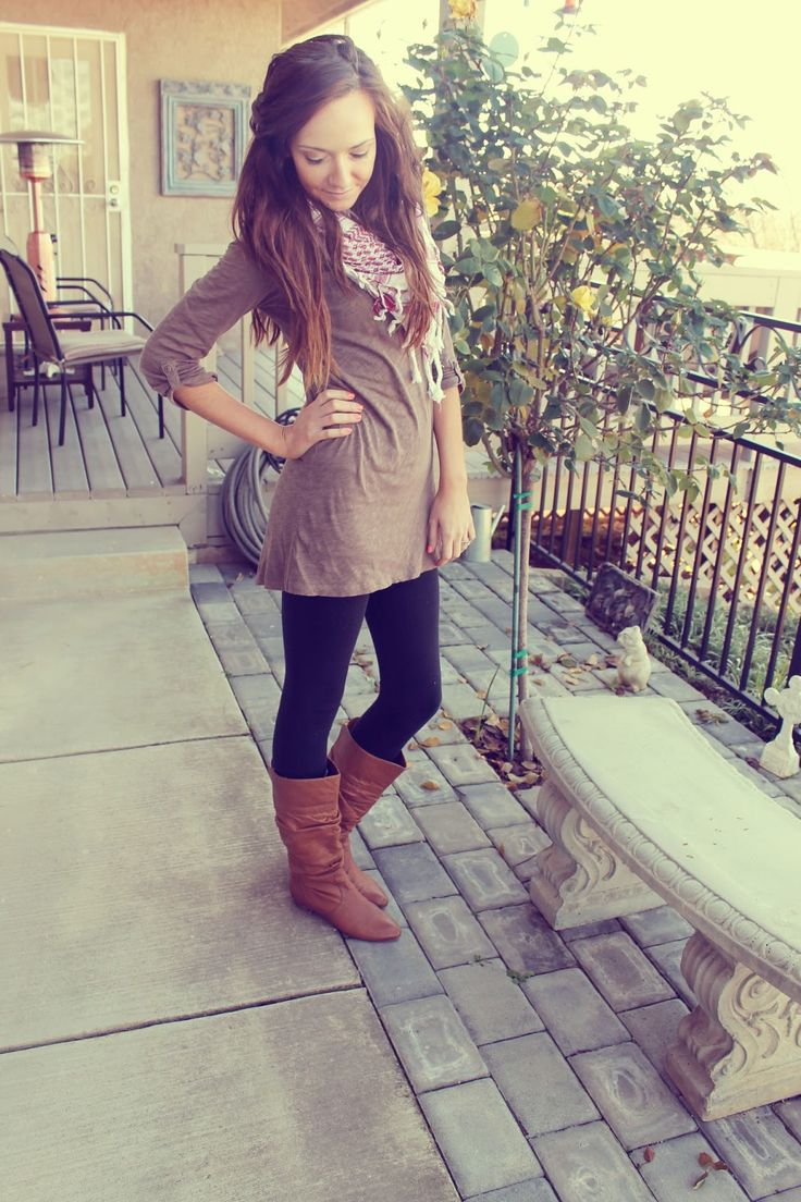tunic, scarf and boots
