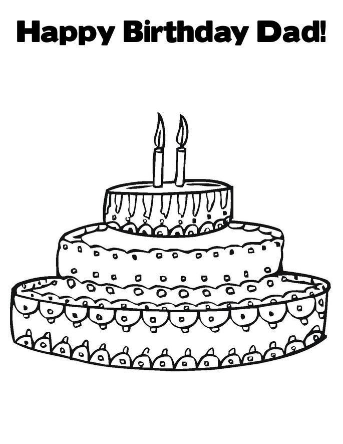 Happy Birthday Dad Coloring Pages Free Happy Birthday Daddy Printable Coloring Pa In 2020 Happy Birthday Coloring Pages Birthday Coloring Pages Coloring Pages For Kids