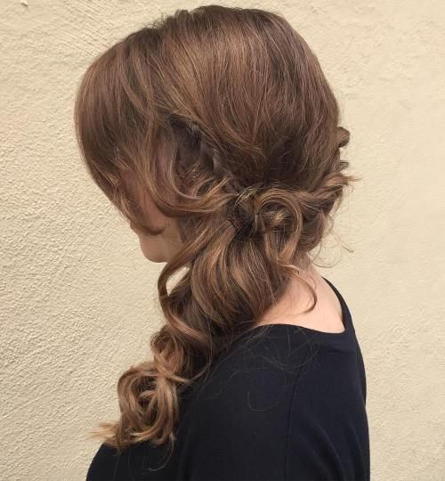 Low Curly Side Ponytail