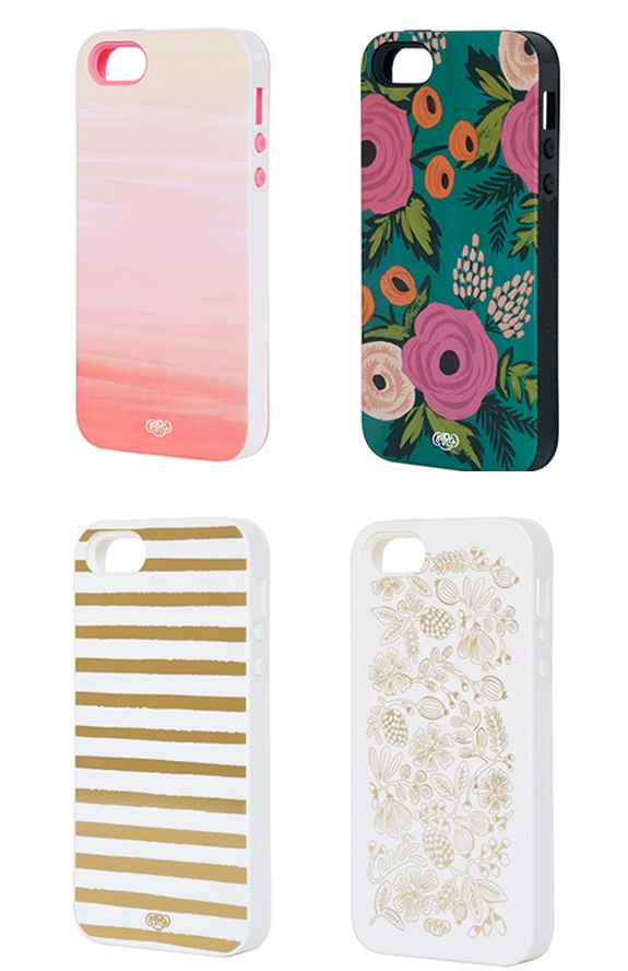 Your ladies will love these pretty phone covers by Rifle Paper Co.