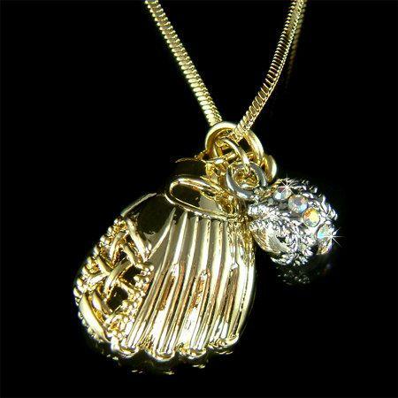 Sport Swarovski Crystal Gold Plated Anhänger Halskette von Kashuen