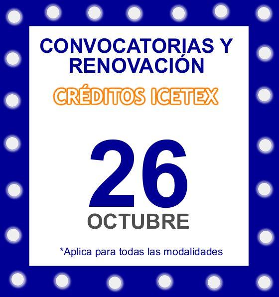 Atentos para la renovación y convocatorias de créditos con Icetex.   #AgendaCecar