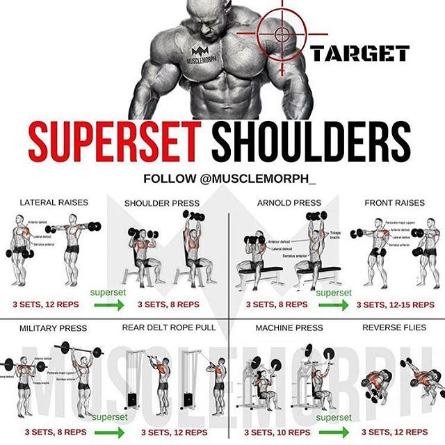 Want Bigger Shoulders Try This Workout Like Save It If You Found This Useful Follow Muscl Shoulder Workout Shoulder Workout At Home Workout Plan For Men