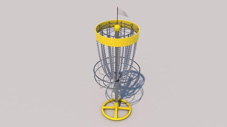 Frisbeegolf Basket C4d - 3D Model