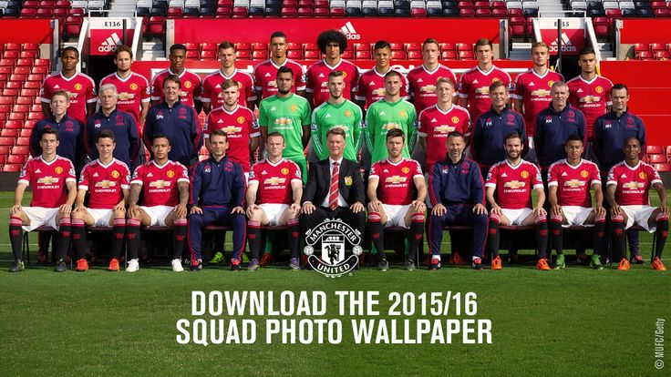 Official Manchester United squad photo 2015/16 - Official
