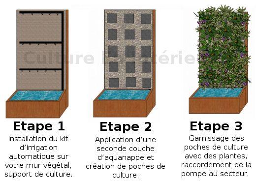 Installation d'un mur végétal. #nature #green http://www.ecoclicot.com/blog/environnement/l-architecture-vegetale-1.html