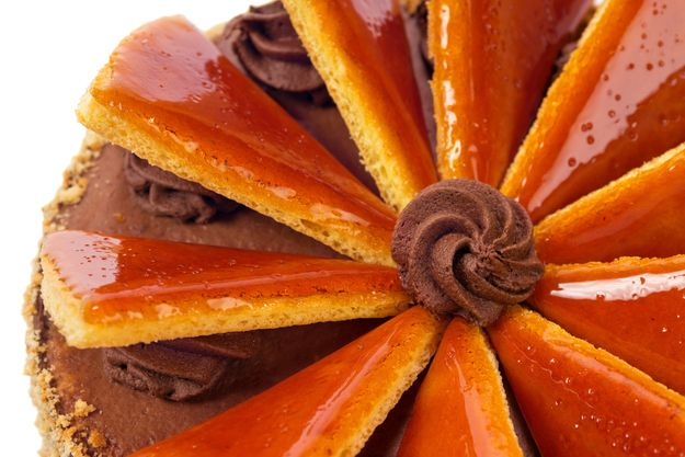 Famous Hungarian dishes you need to know about! This one is called Dobos cake, and has a hard layer, similar to toffee on top.