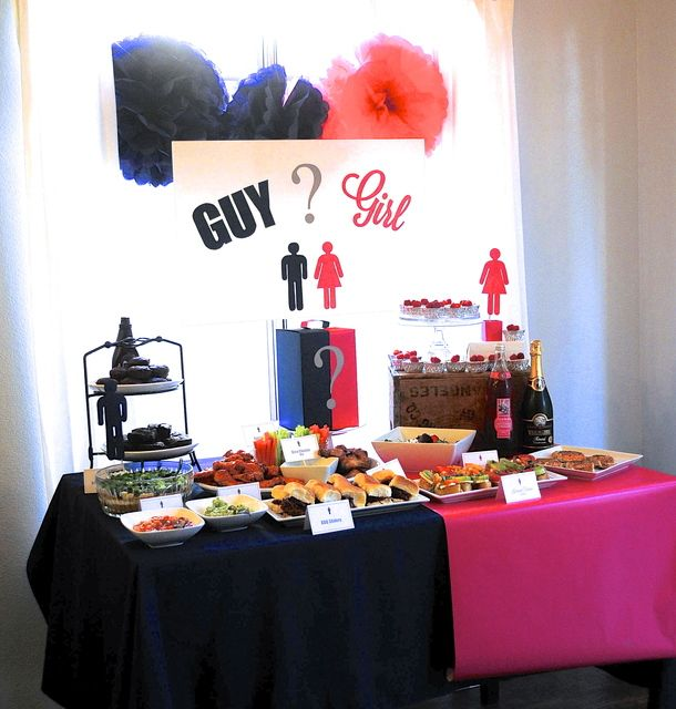 Manly food and girly food served at this GENDER REVEAL