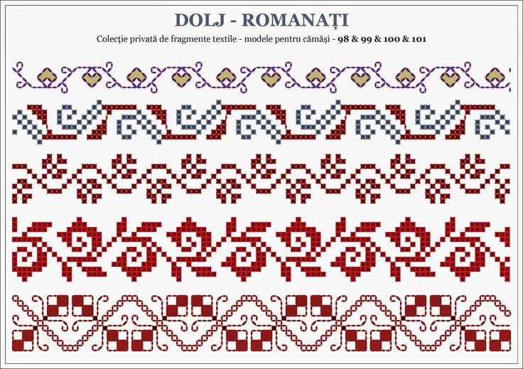 Semne Cusute: Romanian traditional motifs - OLTENIA: Dolj-Romana...