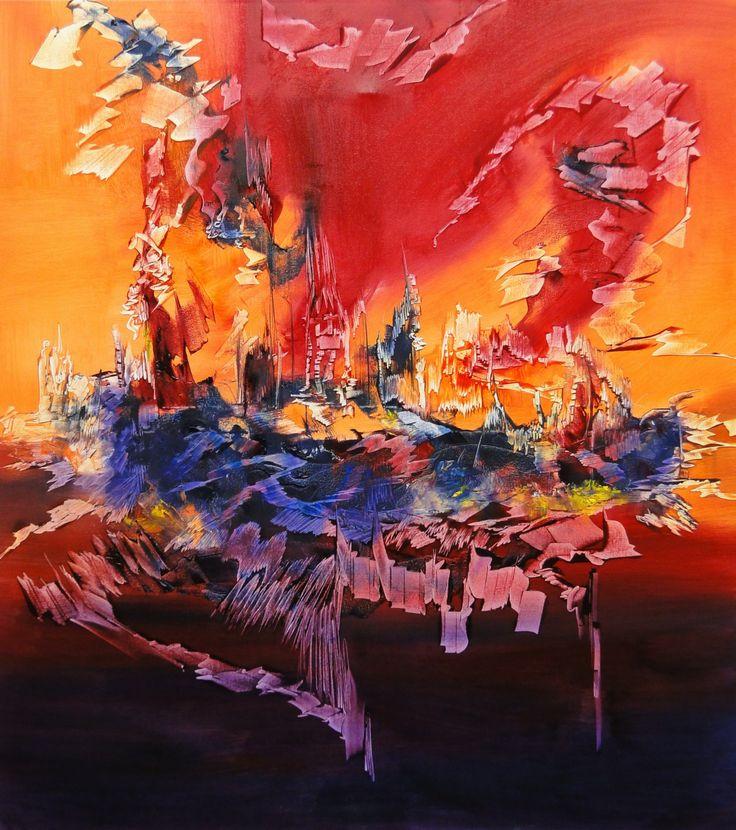 """""""Disonancia"""" - Monica Medina - Oleo sobre tela - - 100 x 90 cm  www.esencialismo.com"""