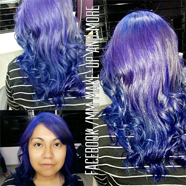 Hair color ómbre purple