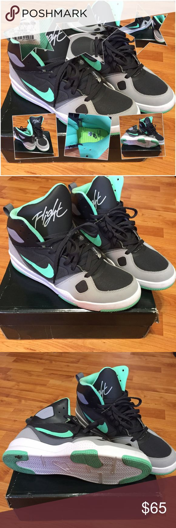 Nike flight men's size 10! These are new Nike flights worn once but they where too small! Men's size 10! Don't have the box because we bought them outta state but they are nice and will be packaged nice to avoid scuffing! Nike Shoes Sneakers