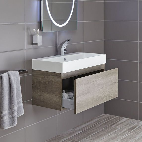 Mino 800 vanity unit - Nebraska oak | bathstore SEAN LOVES