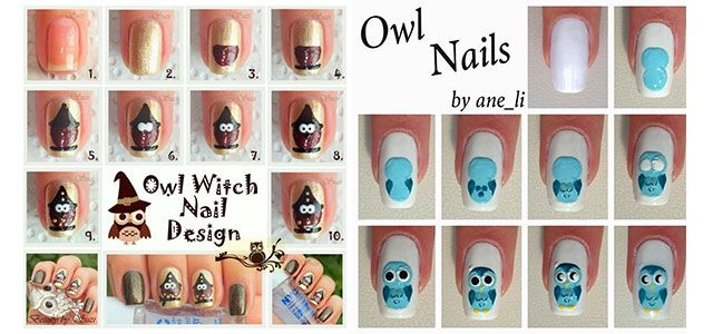 10-Easy-Step-By-Step-Owl-Nail-Art-Tutorials-For-Beginners-2014
