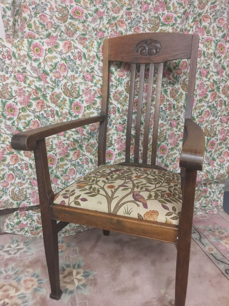 William Morris Arts and Crafts Oak Carver Chairs | eBay