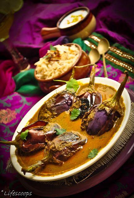 Hyderabadi Bagara Baingan (Eggplants in creamy sauce)