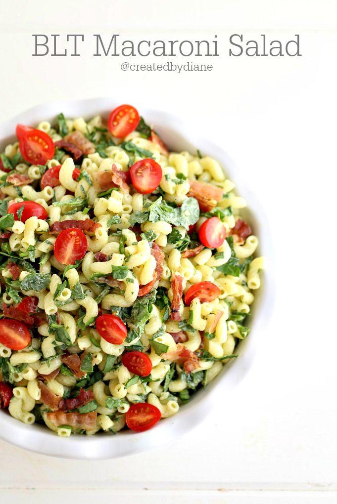 BLT Macaroni Salad | Recipe | Macaroni, Blt macaroni salad and Recipe