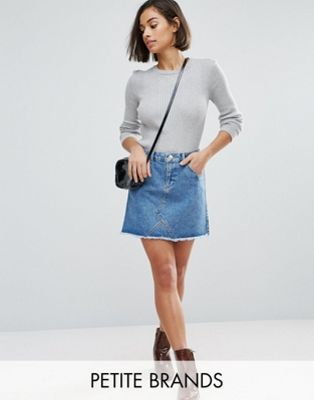 Miss Selfridge Petite Mini Denim Skirt