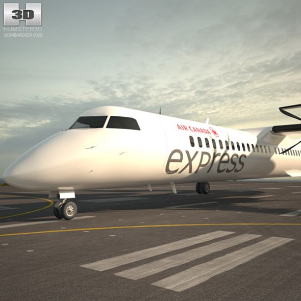 Bombardier Dash 8 With Images An Aeroplane 3d Model Aircraft