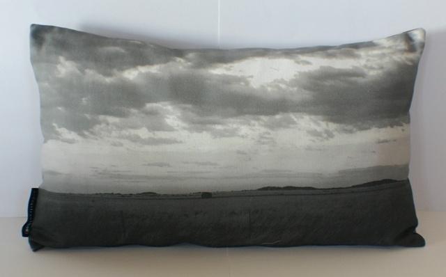 traveller cushion - greyscale