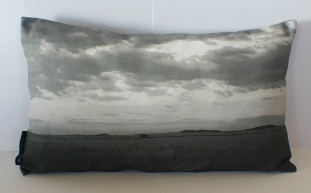 traveller cushion - greyscale