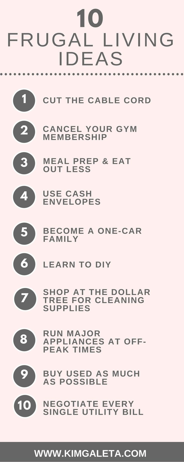 Need frugal living ideas? These 10 frugal living ideas are easy to follow and can save you hundreds each month. Click through for even more frugal living ideas.