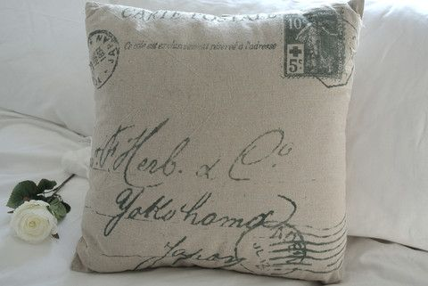 French Post Script Cushion - Divine Shabby Chic