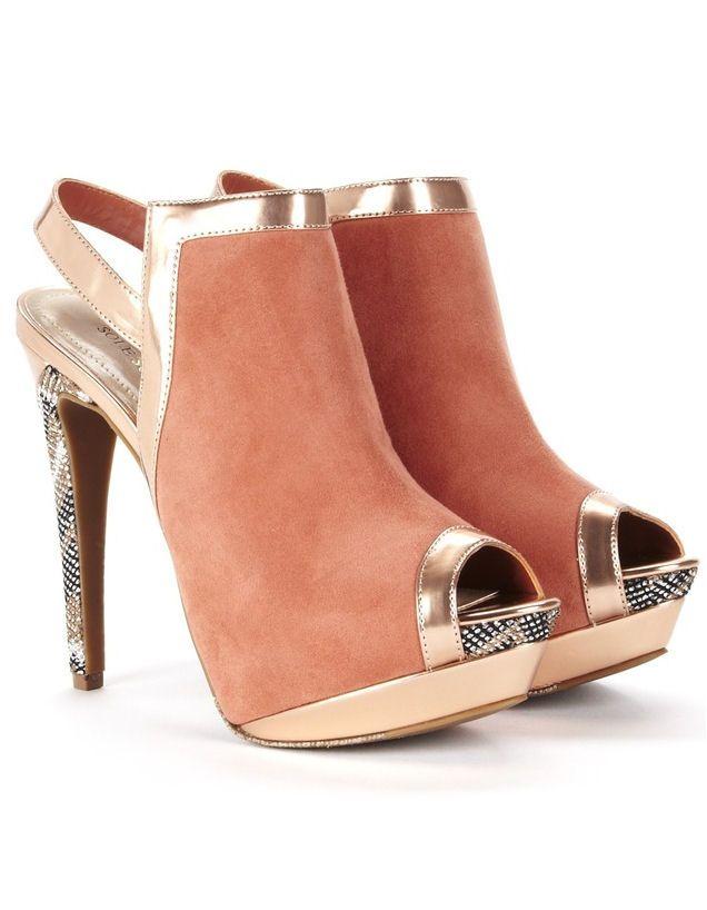 Coral Metallic Heels <3 L.O.V.E.