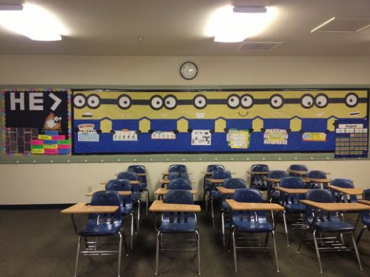 My classroom minion bulletin board.