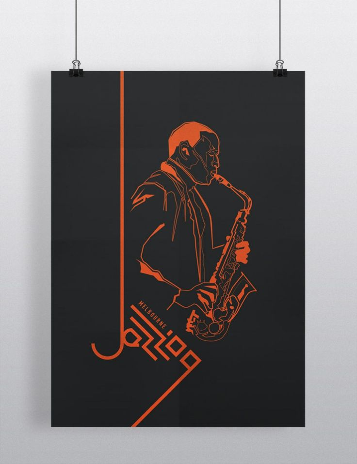Melbourne Jazz festival 09 - promotional poster - case study