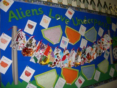 Aliens Love Underpants Display, classroom display, class display, Story, alien, underpants, read, book, Early Years (EYFS), KS1 & KS2 Primary Resources