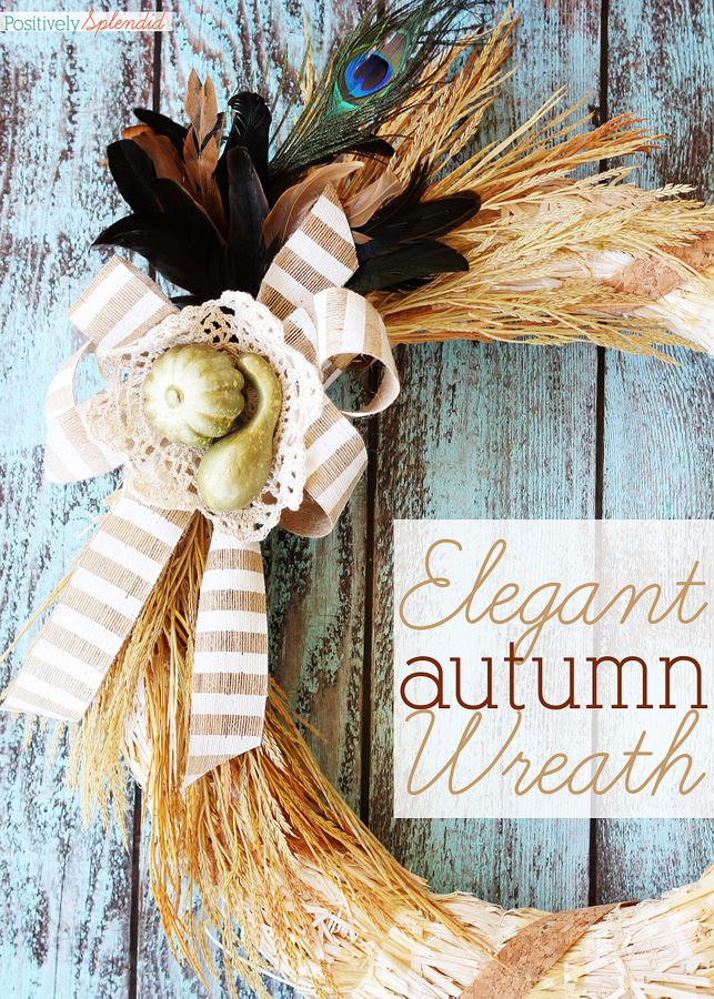 Tutorial for an elegant fall wreath from MichaelsMakers Positively Splendid