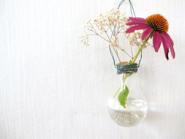 Lightbulb Vase | 30 Creative DIY Ways To Show Off Your Plants
