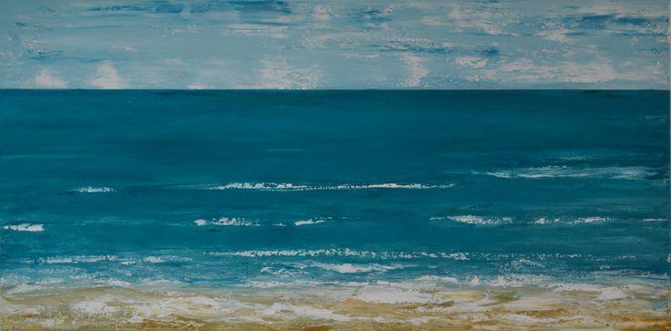 """Blue Horizon"" by Deborah Christensen. Paintings for Sale. Bluethumb - Online Art Gallery"