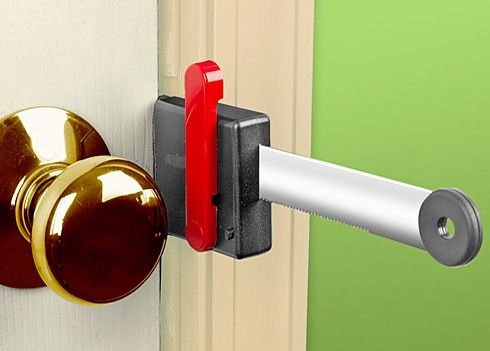 Zelco Lock Up Portable Door Lock Adds An Extra Barrier To Unauthorized  Entry  1000 images. How To Lock Bedroom Door From Outside