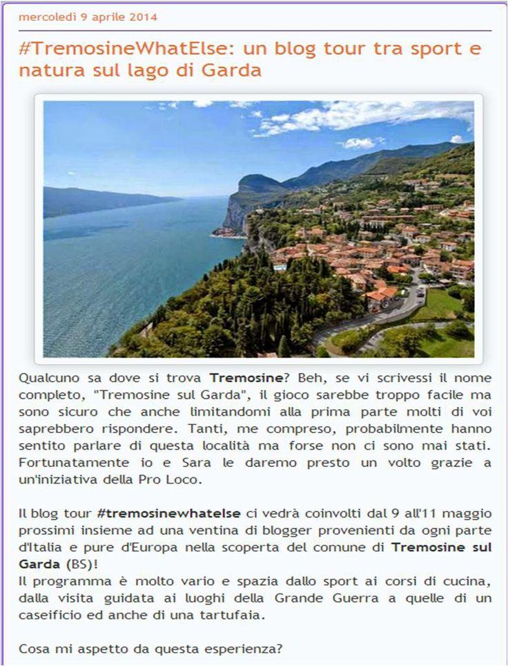 GIROVAGATE: #TremosineWhatElse: un blog tour tra sport e natura... Se volete leggere tutto l'articolo cliccate sull'immagine