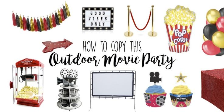 Outdoor Movie Party Theme Ideas, Drive-in, Dive-in Birthday