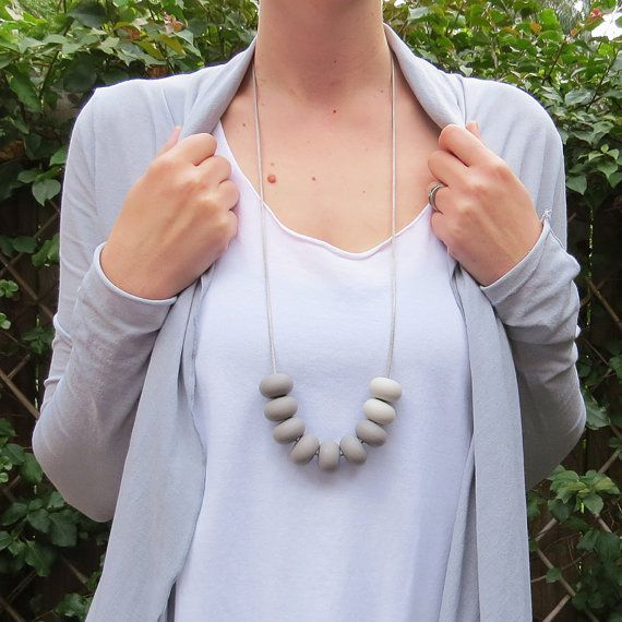 Donut Exposed Cord Silicone Teething Necklace