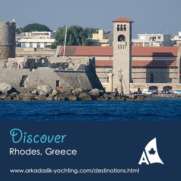 The bronze statues in Mandráki Harbour can be seen when approaching Rhodes by sea. Originally, the harbour was protected by Colossus of Rhodes, one of the Seven Wonders of the Ancient World.