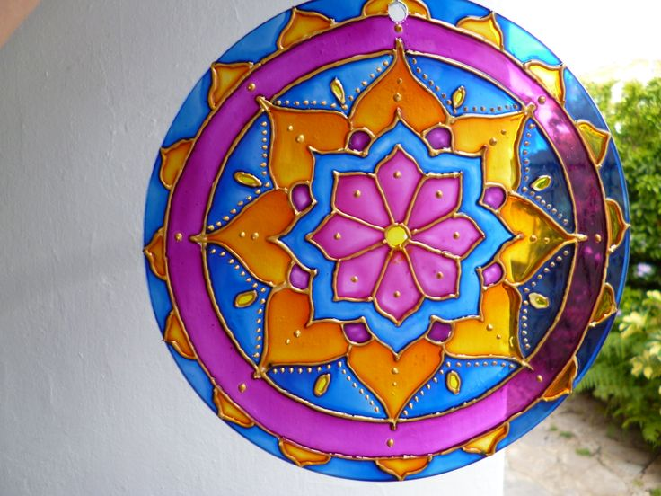 Mandala, vidrio 20cm